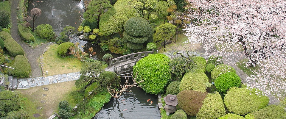 萃香園ホテル 日本庭園